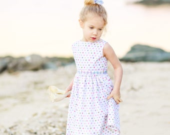 Clothing,Girls Dress,Bicycle Dress,Summer Dress, Special Occassion, Easter Dress, Girl's Dresses, Baby Dress, Spring Dress,