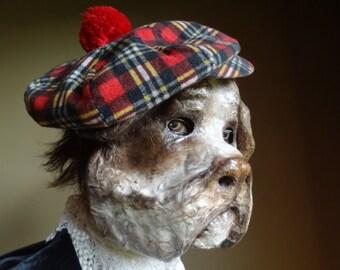 Paper mache dog mask