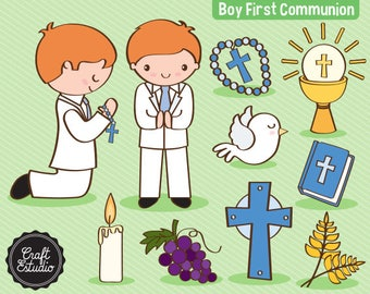 Primera Comunión, First Communion, Boy, Catholic, Instant Download, Digital Paper, Clipart, High Resolution, JPG Scrapbooking, PNG Clipart
