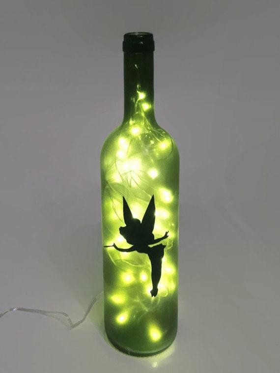 Tinkerbell Wine Bottle Lamp Fairy Light Nightlight Gift