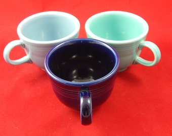 Three Fiesta Ware Cups Colors