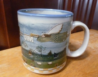 OTAGIRI mug Carol Endres art Peace in the Country Angels Trumpets