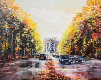 """Original Oil Painting '' The Mall"""""""""""