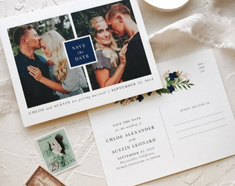 Save The Date Postcards, Photo Card Postcard Wedding, Photo Save the Date, Printable Save The Date Cards Postcard,