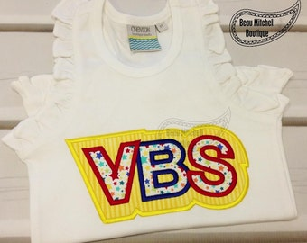 VBS (Vacation Bible School) Double applique embroidery design