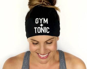 Yoga Headband - Gym + Tonic - Running Headband - Fitness Headband - Fitness Apparel - Workout Headband