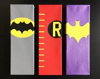 Batman 60's Series Canvas Paintings Set (3; Batman, Robin, Batgirl)