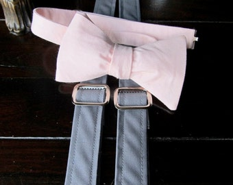 Mens Bow tie and Suspender set,  Mens Bowie and Suspender Set, Mens Bow tie, Mens Free Style Bowtie