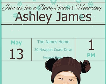 Cute Baby Shower Invitation, Cute Baby Shower, Baby Shower Invitation, Cute Invite, Baby Shower Cute Invites, Printable, Instant Download