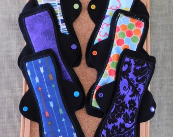 "Set of 6 Reusable Menstrual Pads (10"" Moderate)"