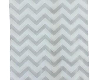 "Paper Gift Bag Silver Chevron Pattern 5""x7"" (Pkg of 500)  (DBG1183)"
