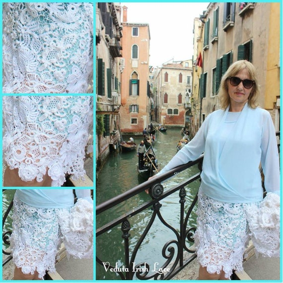 Skirt. Irish Lace. Venice. Made to order