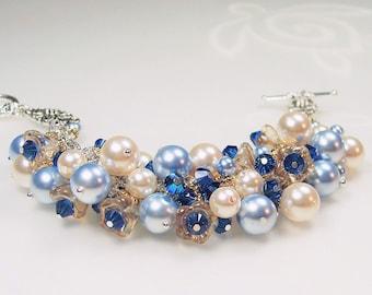 Swarovski Blue Pearl Bracelet