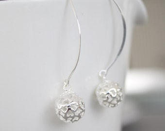 Lacey Heart Earrings