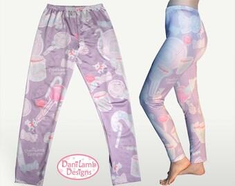 Candy Leggings Kawaii Fairy Kei Leggings Pastel  Sweets Konpeito Print Pastel Goth Size XS Through 5XL *Made 2 Order*