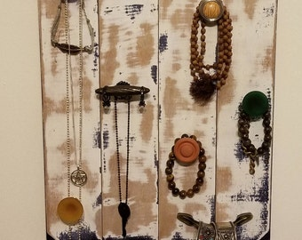 Rustic Jewelry Organizer-Hold and Organize your Necklaces Bracelets Rings and Scarfs