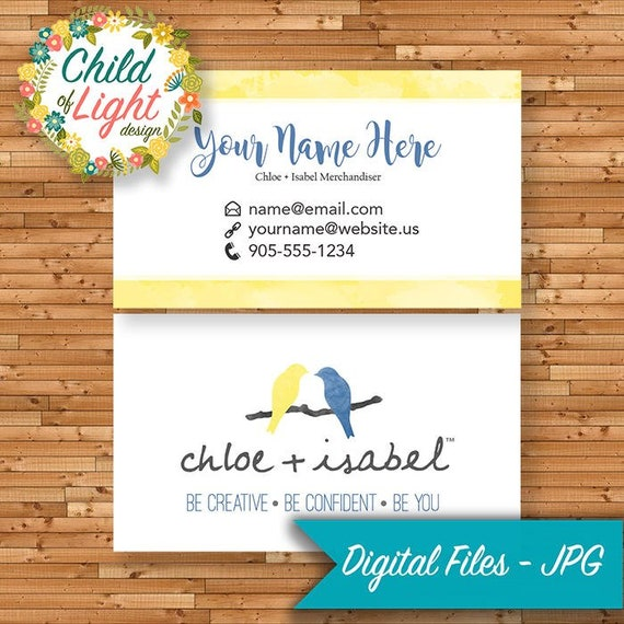 Chloe isabel business cards custom business card blue like this item colourmoves