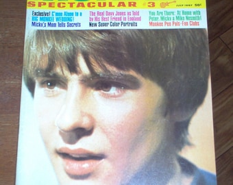 The Monkees Spectacular Magazine #3 1967 Davy Jones Micky Dolenz Mike Nesmith Vintage Classic Rock & Roll Music Collectible