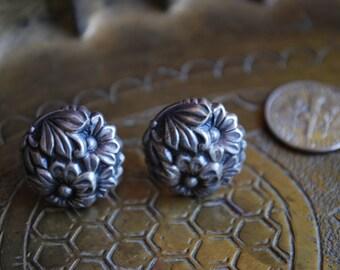 Antique Earrings - 1950s STERLING SILVER Earrings