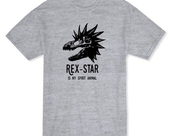Rex Star Is My Spirital Animal Dinosaurs Lover Men's Heather Grey T-shirt