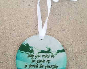 greensky bluegrass inspired christmas ornament
