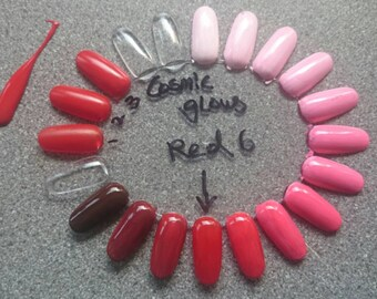 Red 6 super Liquid Tinter -  (warm red) High concentrate, highly pigmented, Custom polish/ indie polish making. 5 free, vegan. Cosmic Glows