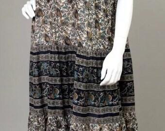 Vintage 70s Indian gauze hippie boho ethnic festival dress