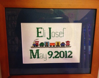 Custom Birth Announcement CrossStitch