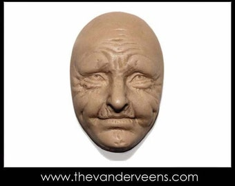 Mold No.82 (Face- Older looking with opened eyes) by Veronica Jeong
