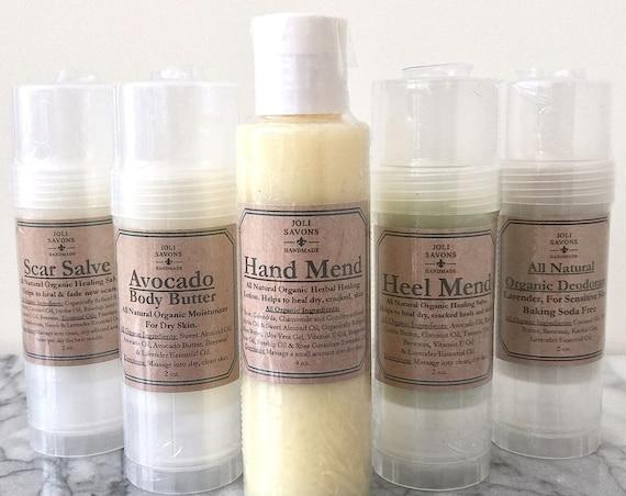 Heel Mend - Organic Moisturizing Balm for dry, cracked heels and feet.