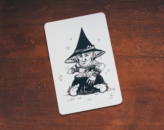 Goblin Witch - card size print