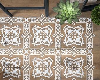 ATTICUS Tile Stencil - TIle Stencil - Furniture Stencil - Wall Decor Stencil- Floor Decor Stencil