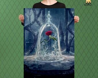 The Enchanted Rose, Fairy Tale Themed, Custom Raised Canvas Art Piece