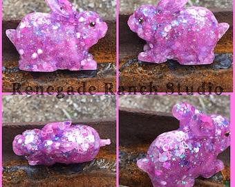 Adorable pink glitter bunny rabbit full of fun glitter! Lucky rabbit
