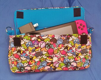 Pokeball Pattern Nintendo Switch Carrying Case - Made to Order