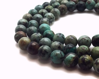 """Natural African Turquoise Beads 4∼10mm Strand 15.5""""-38cm Beads Turquoise Stone Turquoise Gemstone Turquoise Mala Turquoise Round Turquoise"""