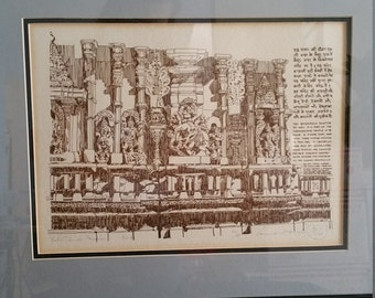 Belur Temple India print by K. P. Singh. 40/50 Signed and Numbered.
