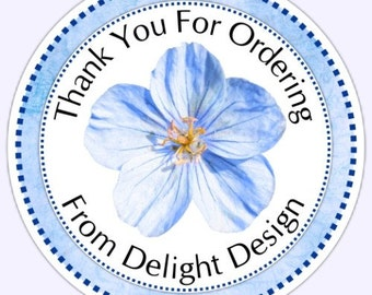 Custom FLower Stickers, Business Labels, Custom Logo Labels - Personalized for YOU or your BUISINESS