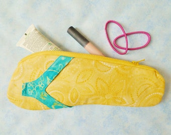 Flip Flop pouch PDF sewing pattern - quilted pouch pattern - pencil case pattern - instant download sewing pattern