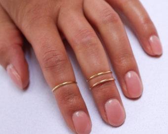 MIDI-Ringe   Boho Chic Schmuck   Knuckle Ring Set   Böhmisches Gold Silber Ringe stapeln   Minimalistische   Wire Wrap Ring   MIDI-Ring-Satz