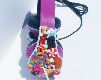 Purple Gumdrop Headphones