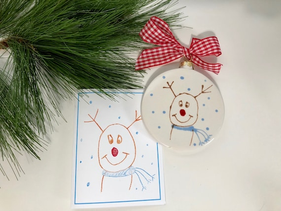 Hand painted @lovelylivcards, christmas ornament, Lovely Livs reindeer ornament, Hope that binds donation ornament, 2017 lovely liv's cards