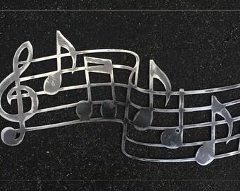 Musical Scale Metal Art