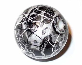 2 round beads graphite grey gray 10mm AR113