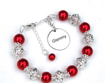 Glammy Bracelet, Gift for Granny, Glammy Jewelry, Grandmother Bracelet, Gift for Grandma, Gran Gift Ideas, Glamorous Granny