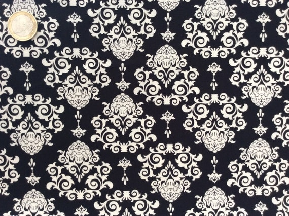 High quality cotton poplin dyed in Japan with Black and white print