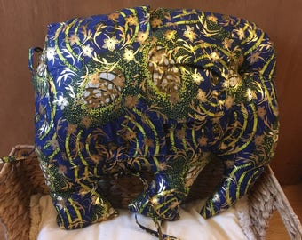 Elephant Cushion - African Pillow - Elephant Decoration - Animal Pillow - Gold Cushion - African Decorative Cushion - African Homewear