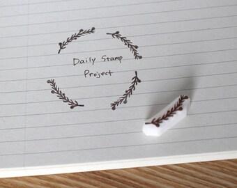 Branch rubber stamp. Hand carved stamp. Handmade stamp. Unmounted stamp. Cute stamp. Nature stamp