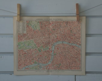1894 Vintage London Map