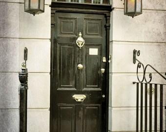 Sherlock Holmes, 221b, Baker Street, London Photography, British Decor, London Decor, Fine Art Print, Wall Art, black and white, brown, gold